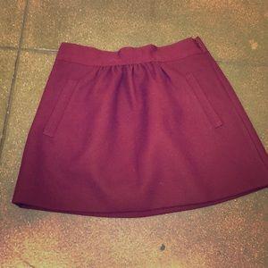 J. Crew 100% wool 🍷 burgundy' color mini skirt